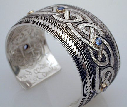 Sterling Silver Bracelet with Five Sapphires