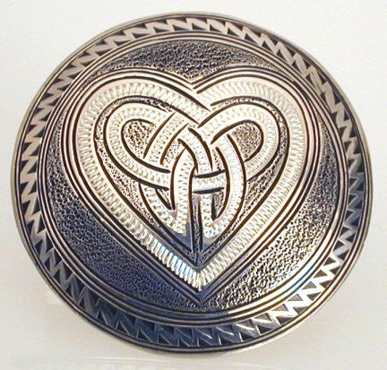 Rick Deeks - Sterling Silver Heart Lapel Pin
