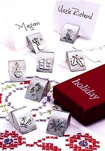 Vilmain Pewter - Holiday Place Card Holders
