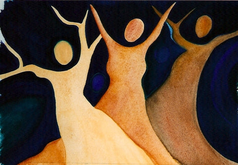 Womantrees Dancing #5 by Mitzi Linn