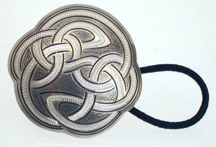 Hand Engraved Sterling Silver Hair Tie with a Russian Rope Design
