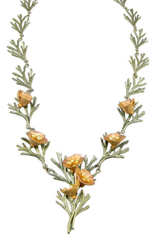 Silver Seasons - Michael Michaud - California Poppy Necklace
