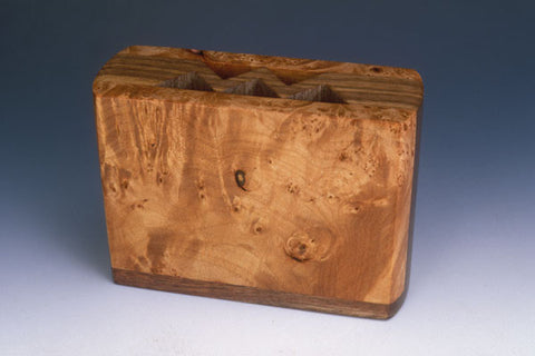 Howard Griffiths -  Maple Burl & Walnut Small  Pencil Holder