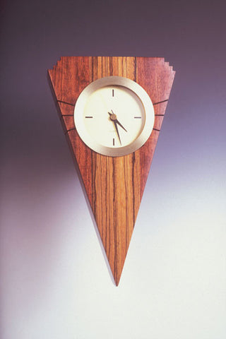 Howard Griffiths - Bubinga & Zebra Wood Wall Clock