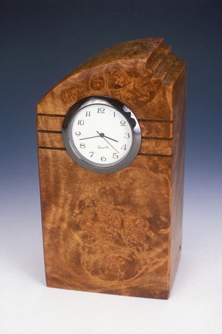 Howard Griffiths -  Maple Burl - Mini Tower Desk Clock