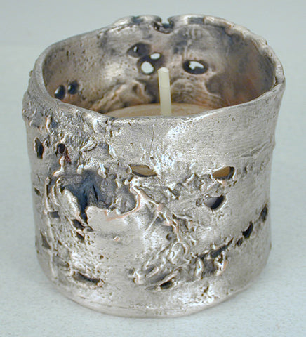 Michael Michaud - Table Art - Birch Bark Tealight Holder