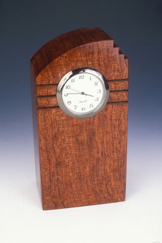 Howard Griffiths - Bubinga - Mini Tower Desk Clock