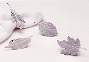 Vilmain Pewter - Leaf Napkin Rings