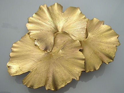 Michael Michaud - Table Art - Ginkgo Leaf Dish