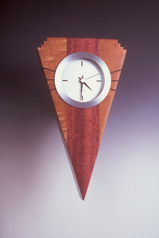 Howard Griffiths - Figured Maple & Purpleheart Wall Clock