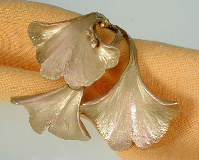 Michael Michaud - Table Art - Ginkgo Napkin Ring Set