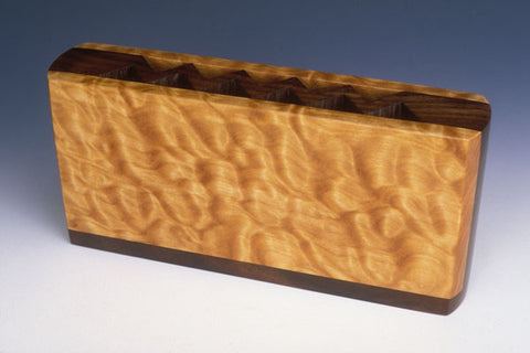 Howard Griffiths - Figured Maple & Walnut Pencil Holder