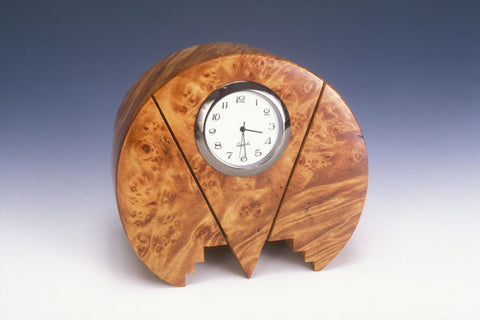 Howard Griffiths - Maple Burl - Round Desk Clock
