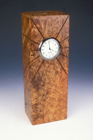 Howard Griffiths - Maple Burl - Tower Desk Clock