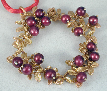 Michael Michaud - Table Art - Cranberry Wreath Ornament