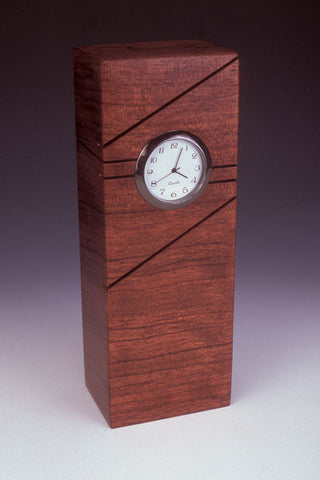 Howard Griffiths - Bubinga -  Tower  Desk Clock