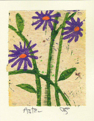 Salmonberry Studio - Aster Note Cards