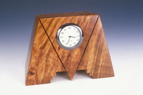 Howard Griffiths - Maple Burl Geo Desk Clock