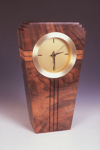 Howard Griffiths - Walnut & Maple Burl - Metro Clock