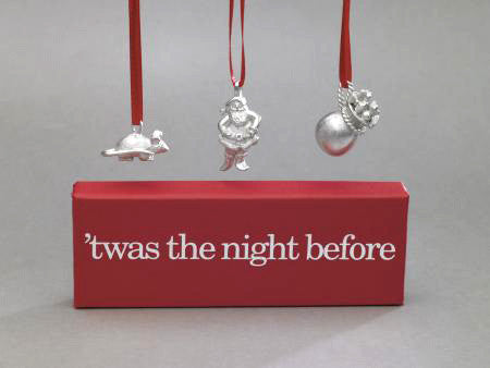 Vilmain Pewter - 'Twas the night before Ornament Set
