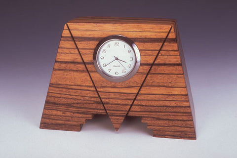 Howard Griffiths - Zebra Wood Geo Desk Clock