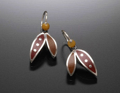 Kinzig Design - Double Leaf Earrings