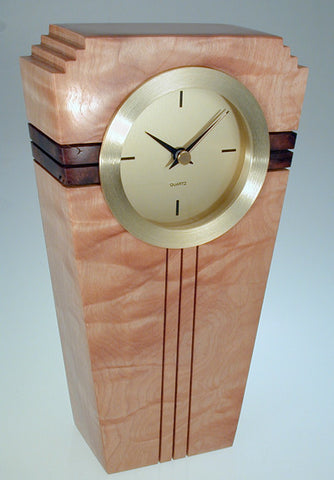 Howard Griffiths - Figured Maple & Walnut - Metro Clock
