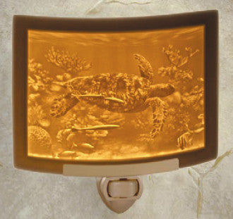The Porcelain Garden - Sea Turtle - Lithophane Night Light