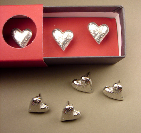 Vilmain Pewter - Original Heart Push Pins