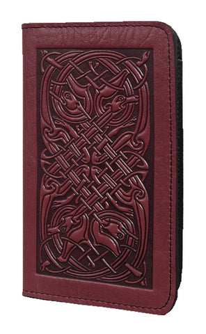 Oberon Design - Celtic Hounds Leather Checkbook Cover