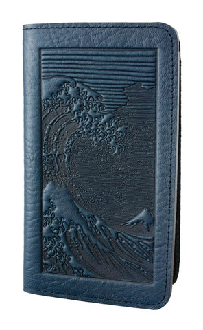 Oberon Design - Wave Leather Checkbook Cover