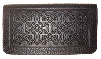 Oberon Design - Bold Celtic Leather Checkbook Cover