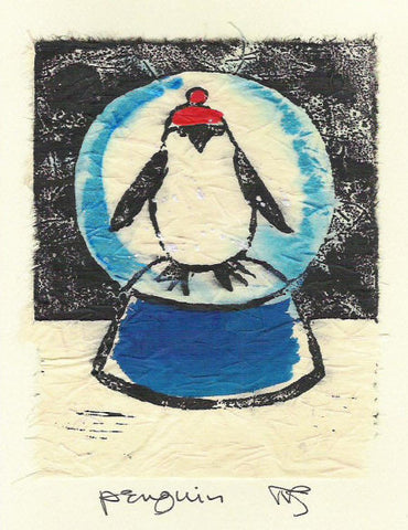 Salmonberry Studio - Penguin Note Card