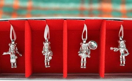 Vilmain Pewter - Nutcracker Band Ornament Set
