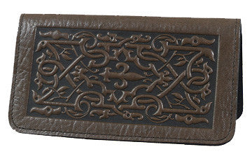 Oberon Design - The Medici Leather Checkbook Cover