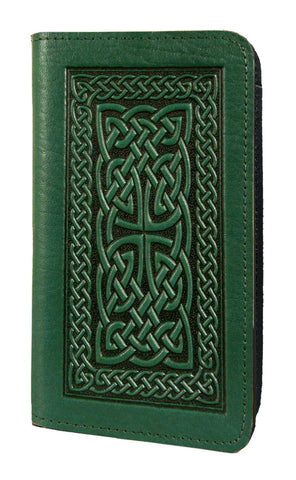 Oberon Design - Celtic Braid Leather Checkbook Cover