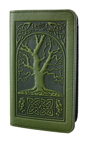 Oberon Design - Celtic Oak Leather Checkbook Cover