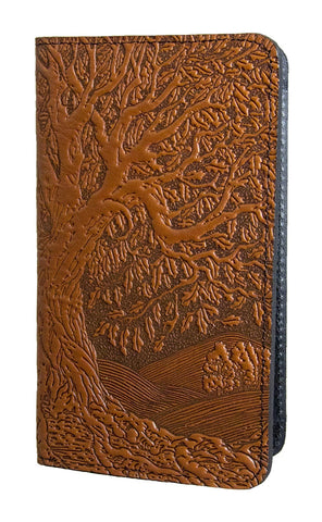 Oberon Design - Tree of Life Leather Checkbook Cover