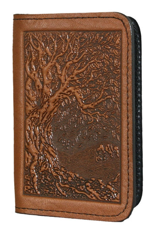 Oberon Design - Tree of Life Leather Business Card Holder