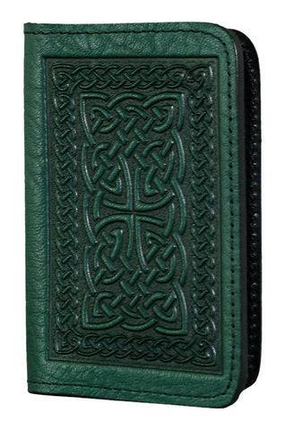 Oberon Design - Celtic Braid Leather Business Card Holder