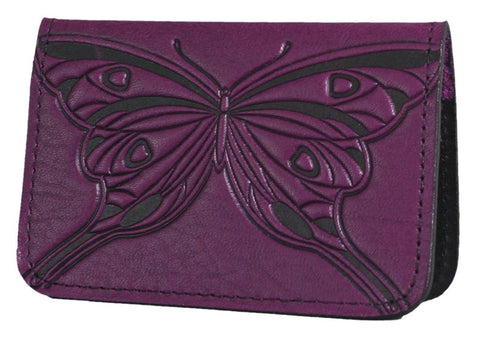 Oberon Design - Butterfly Leather Business Card Holder