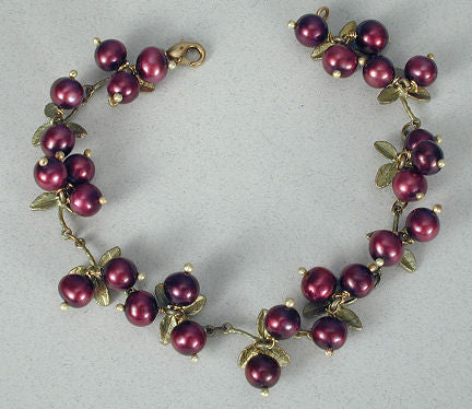Silver Seasons - Michael Michaud - Cranberry Bracelet