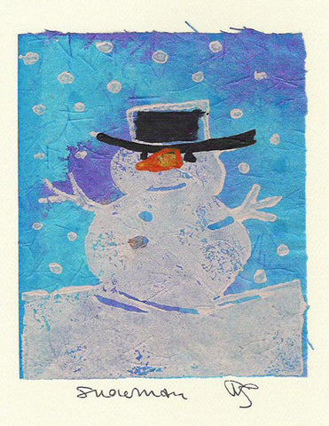 Salmonberry Studio - Snowman Note Card