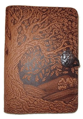 Oberon Design - Small Tree of Life Refillable Leather Journal