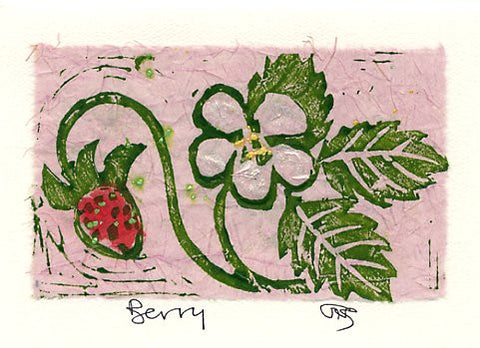 Salmonberry Studio - Berry Note Card
