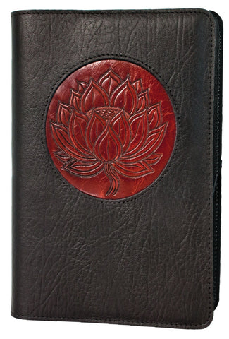 Oberon Design - Lotus Icon Refillable Leather Journal