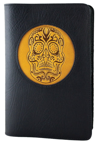 Oberon Design - Sugar Skull Icon Refillable Leather Journal