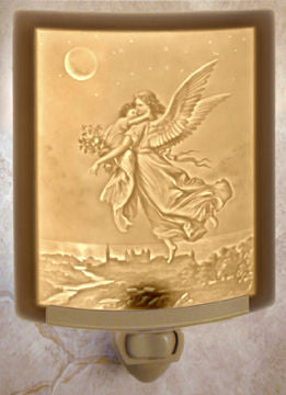 The Porcelain Garden - Guardian Angel - Lithophane Night Light