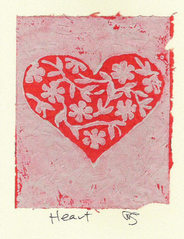 Salmonberry Studio - Heart Note Card