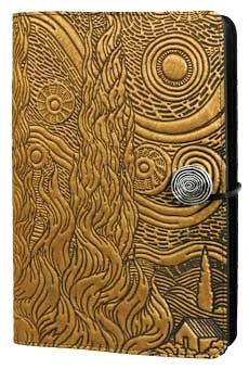 Oberon Design - Van Gogh's Sky Large Refillable Leather Journal